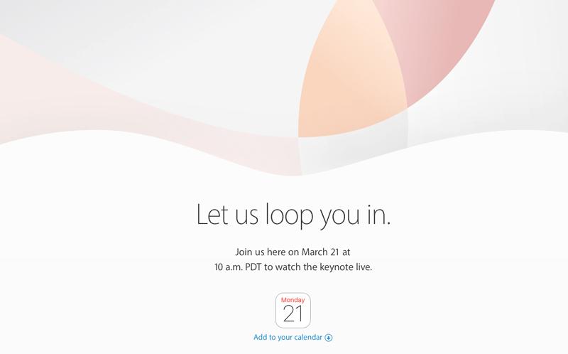 """Konferencja Apple """"Let us loop you in."""" (21 marca 2016)"""