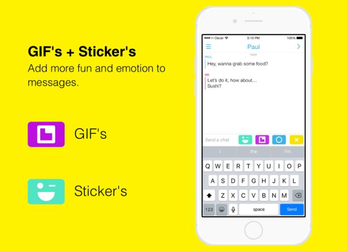 GIF-y i naklejki w wiadomościach Snapchata