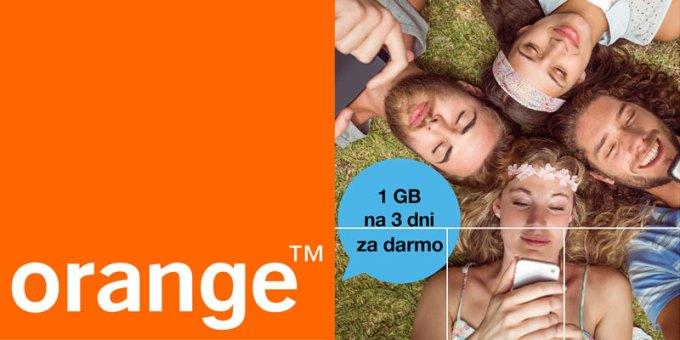 1 GB internetu za darmo w Orange na kartę (na majówkę 2016)