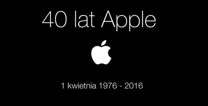 40 lat firmy Apple