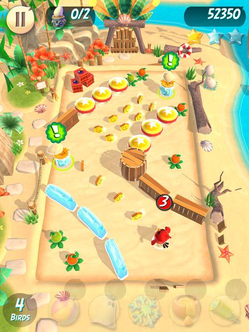 Screen z gry Angry Birds Action na iPada