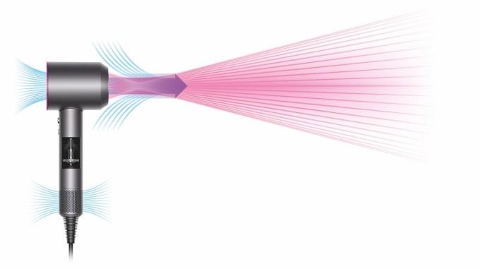 Przepływ powietrza suszarka Dyson Supersonic