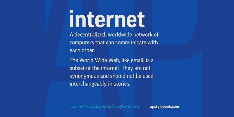 Pisownia internetu małą literą!