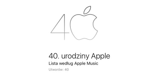 Playlista Apple Music z okazji 40-lecia