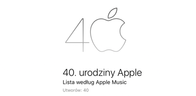 Playlista 40. urodziny Apple (Apple Music)
