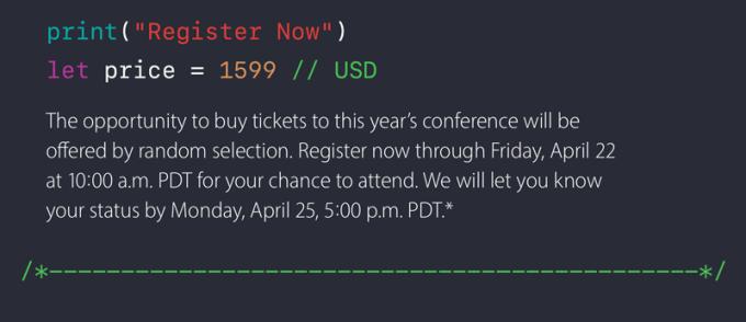Rejestracja na WWDC16