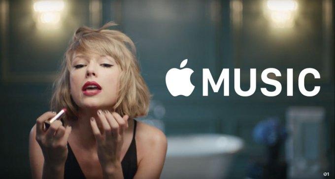 Taylor Swift w spocie reklamowym Apple Music