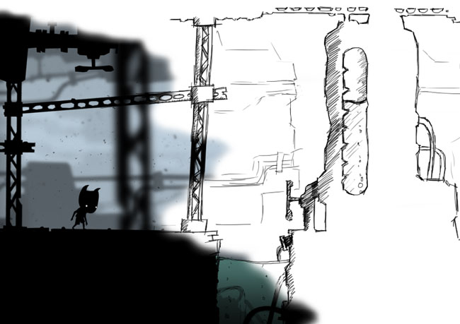 Szkic grafiki z gry Toby: The Secret Mine