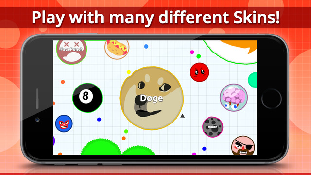 Screen gry mobilnej Agar.io (skórki)