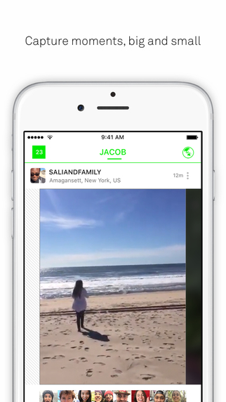 Screen z aplikacji Beme na iOS-a