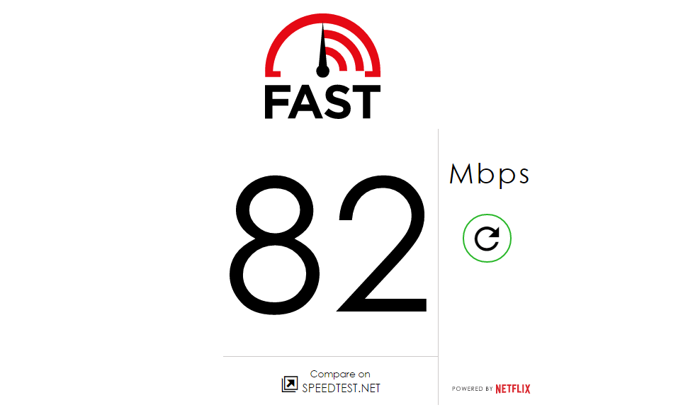 Tester prędkości internetu od Netflixa (Fast.com)