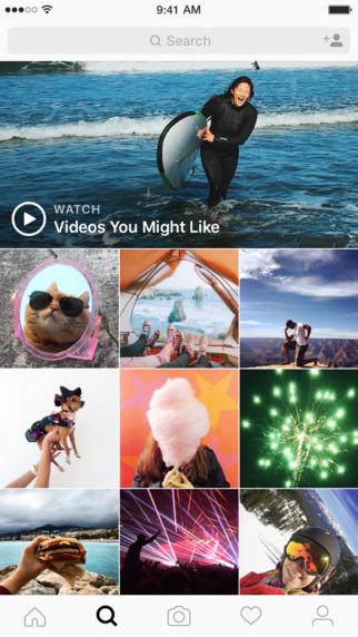 Screen aplikacji Instagram na iOS-a