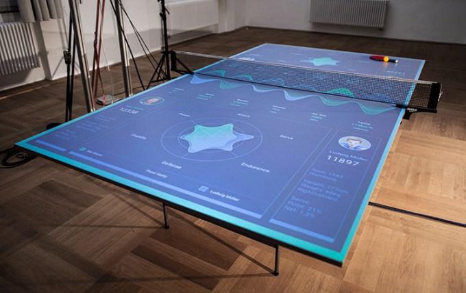 Stół do ping-ponga z rozszerzoną rzeczywistością