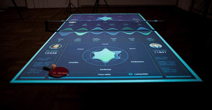 Interaktywny stół do ping-ponga