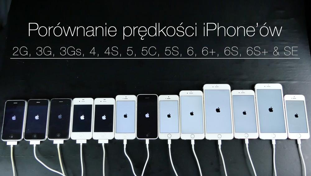Porównanie prędkości wszystkich modeli iPhone'a (maj 2016)