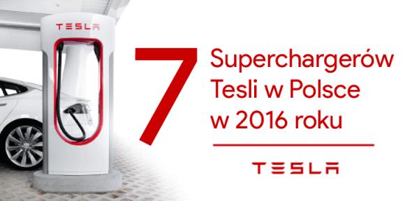 Otworzono pierwszy Supercharger Tesli w Polsce