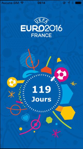 Screen z aplikacji mobilnej UEFA EURO 2016 Fan Guide
