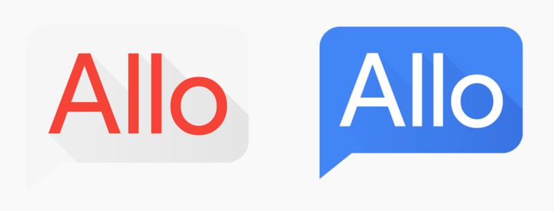 Ikona aplikacji Allo przed i po zmianie