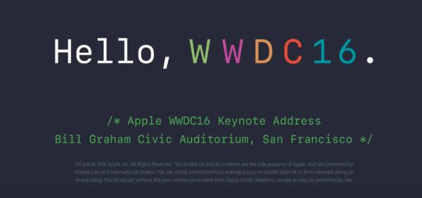 Apple udostępniło nagranie Keynote WWDC 2016