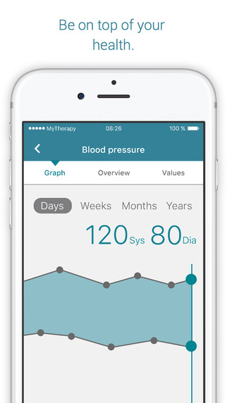 Screen aplikacji MyTherapy
