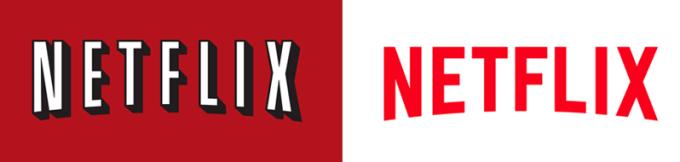 Stare (po lewej) i nowe (po prawej) logo Netflixa