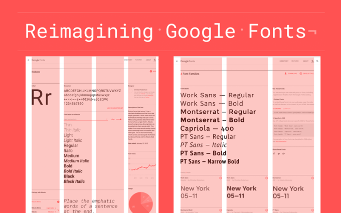 Nowy serwis Google Fonts