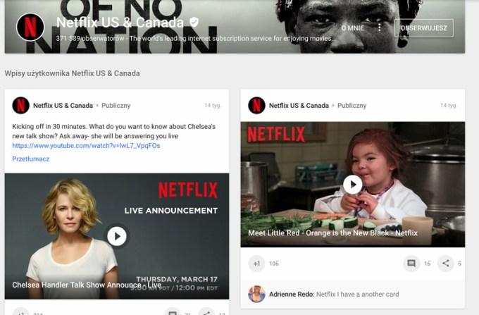 Nowa ikona Netflixa na Google+