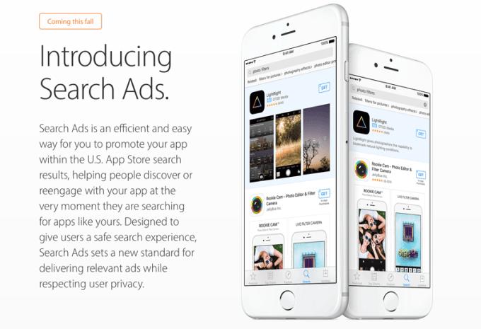 Płatne reklamy aplikacji mobilnych w sklepie App Store