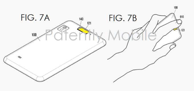 Skaner linii papilarnych na tylnej obudowie - patent Samsunga