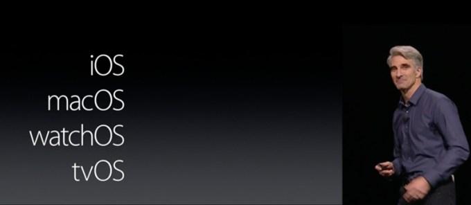 Spójne nazewnictwo dla systemów operacyjnych Apple'a