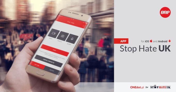 Stop Hate UK - aplikacja mobilna do raportowania hejtu w Wielkiej Brytanii