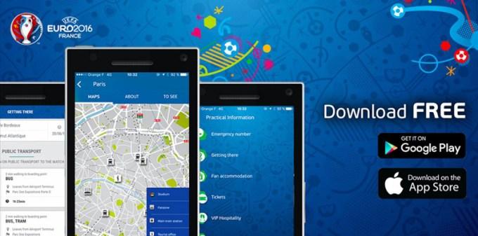 oficjalna aplikacja mobilna na UEFA EURO 2016 Fan Guide
