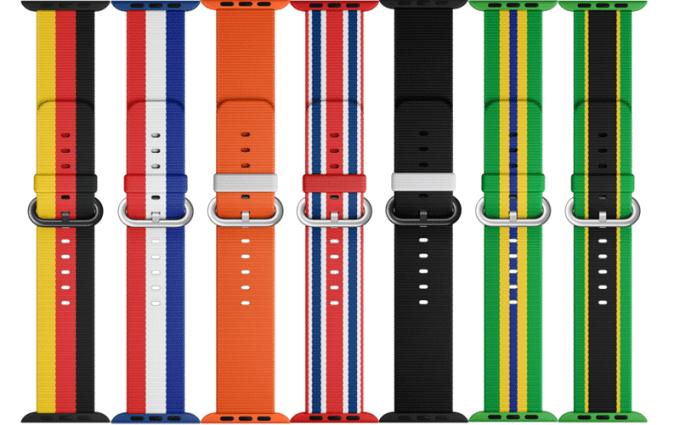 Paski Apple Watch w kolorach flag z okazji Olimpiady w Rio 2016