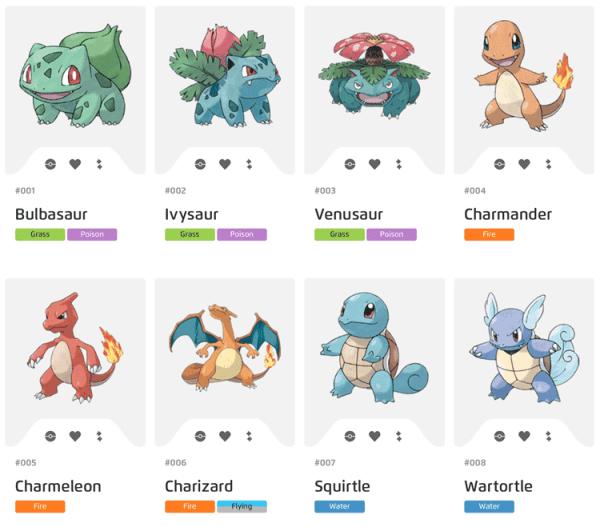 Lista wszystkich pokemonów z Pokémon GO
