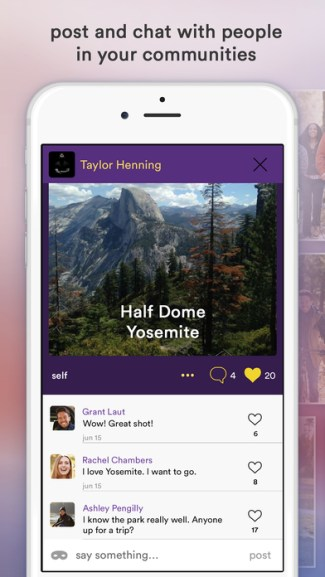 Hello Network - screen z aplikacji mobilnej