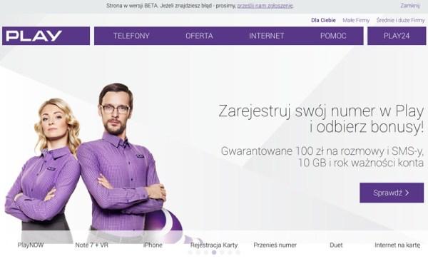 Odświeżony serwis internetowy Play.pl