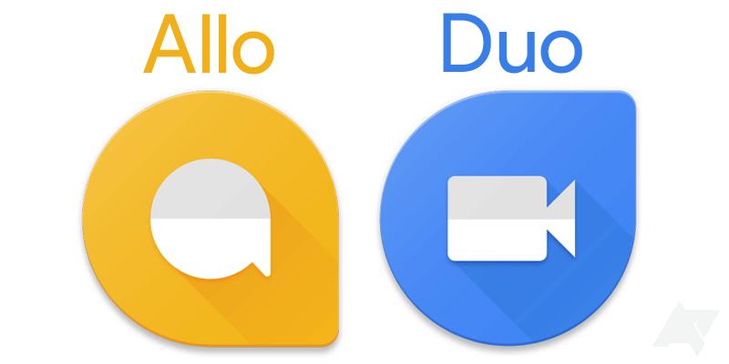 Nowe ikony aplikacji Allo i Duo