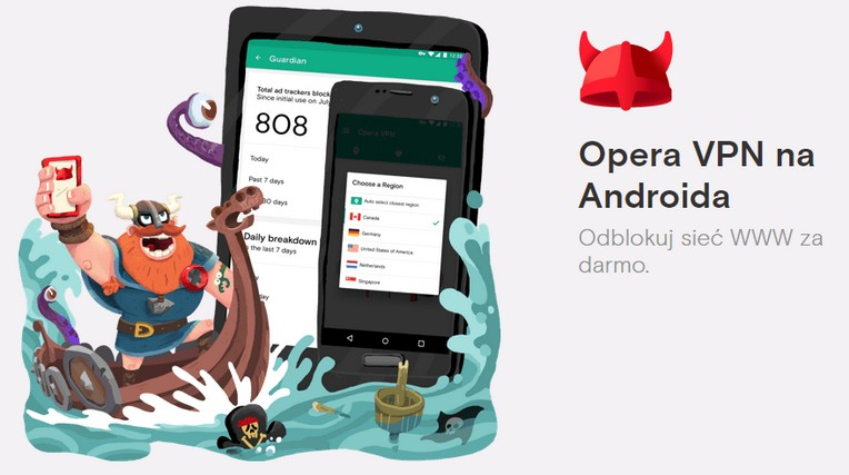 Darmowy VPN Opera bez limitów