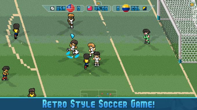 Pixel Cup Soccer 16 - screen z aplikacji