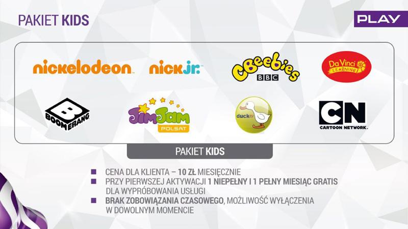 Pakiet KIDS (10 zł/ miesięcznie)
