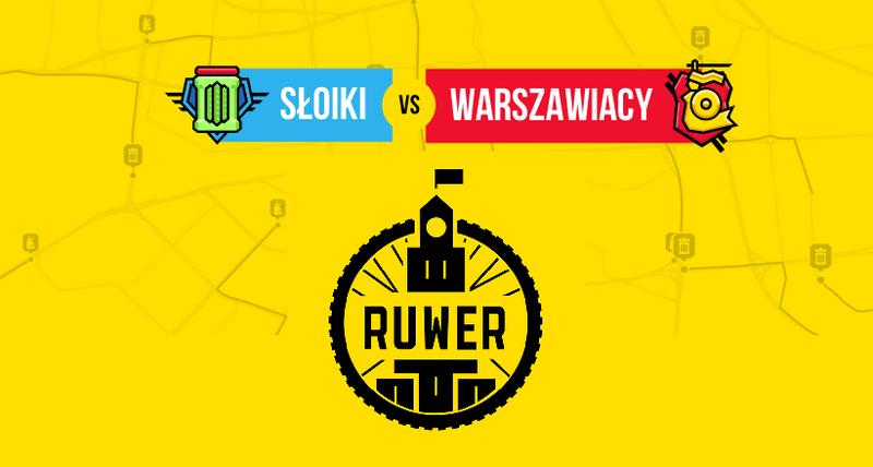 Aplikacja mobilna Ruwer - Warszawiacy vs. Słoiki