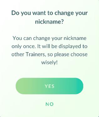 Zmiana nazwy trenera w Pokemon GO