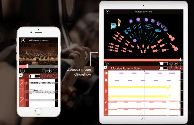 Aplikacja mobilna Orkiestrownik - screen