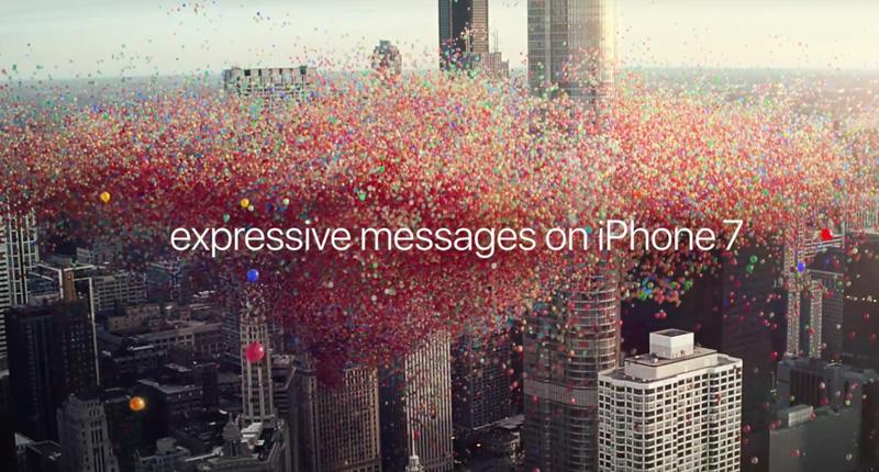 "Screen z reklamy ""Balloons"" Apple'a"