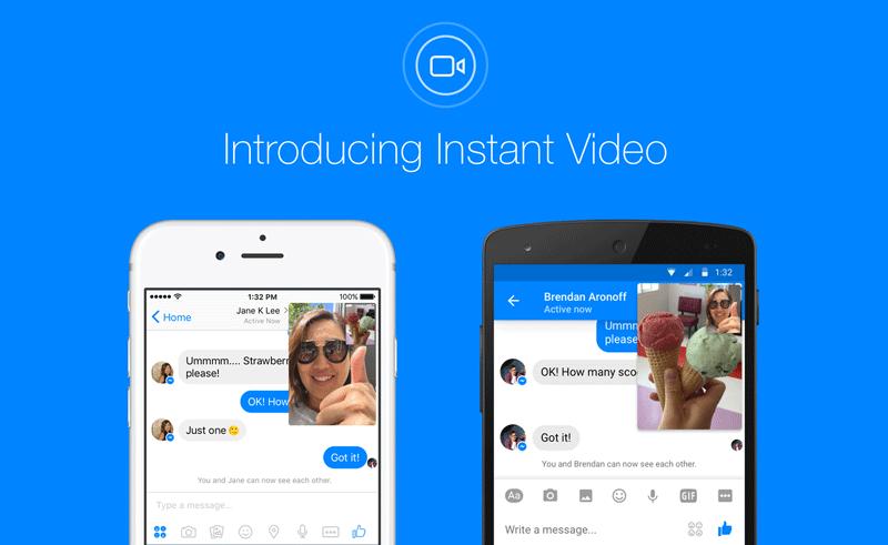 Instant Video w Facebook Messenger