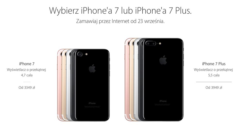 Polskie ceny iPhone'a 7 i 7 Plus