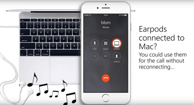 Przykład zastosowania Continuity na macOS i iOS