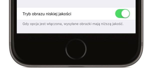 Tryb obrazu niskiej jakości dla iMessage