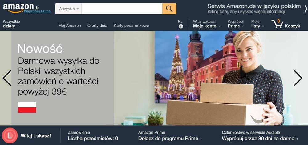 amazon.de w języku polskim