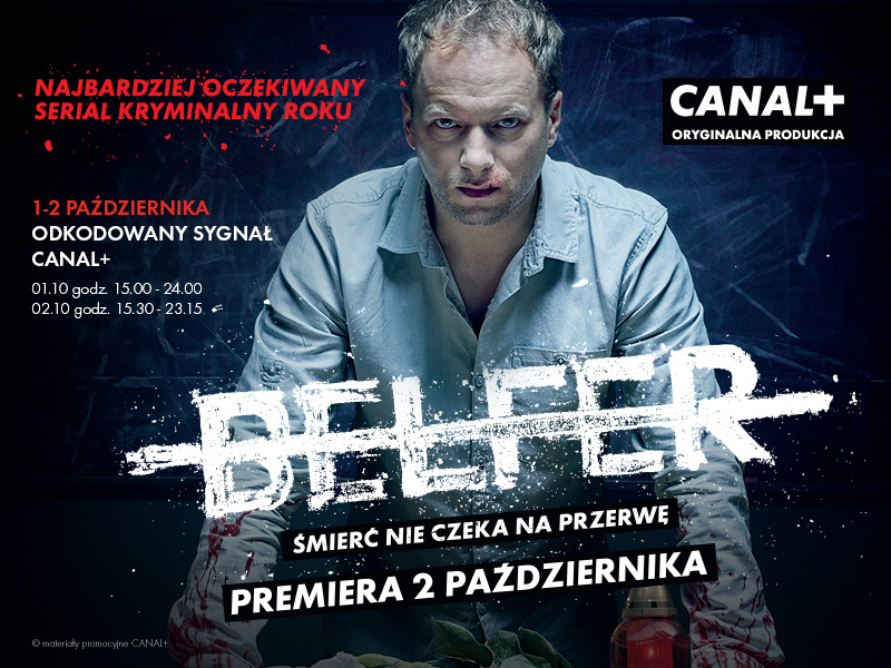 """Odkodowane pasmo Canal+ (1-2 października 2016) - premiera serialu """"Belfer"""""""
